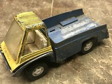 Hubley toy truck yellow blue