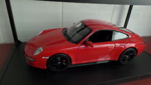 Porsche carrera 4s coupe in red by