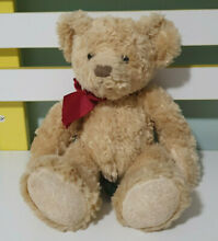 Spencer teddy bear red bow 24cm
