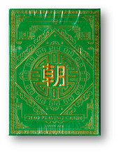 Chao green playing cards by poker