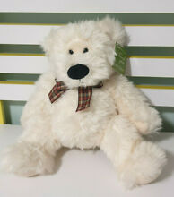 Walter teddy bear white plaid bow