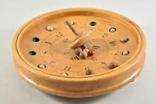 Wooden toy german roulette spinning