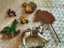 Christmas ornament lot inc painted