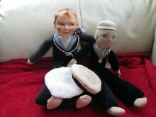 2 doll sailor 1943 sold on board