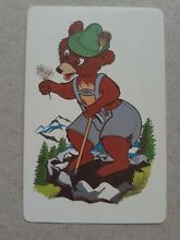 Playing cards swap one card bear
