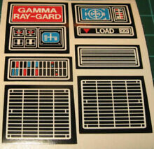 Gamma ray gard replacement decals