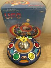 Tinplate battery operated toy ufo