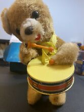 Japanese tin toy bear beating drum