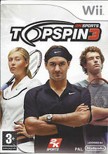 Top spin 3 for nintendo wii box