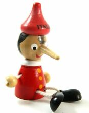 Pinocchio toy figure doll wood