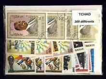 Tchad chad 200 timbres différents