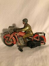A 643 tin wind up motorcycle