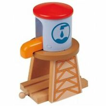 Water tower for wooden railway