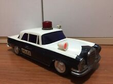 Mercedes police plastic tin toy car
