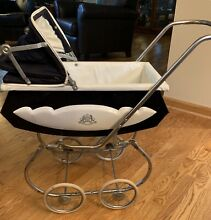 1960s doll baby carriage metal