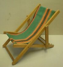 S toy deck chair for doll or teddy
