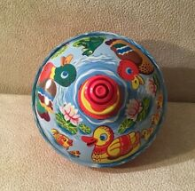 Child s plastic spinning top