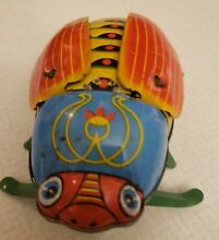 Japan tin toy wind up beetle
