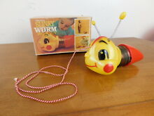 1955 worm pull toy no 250 w box