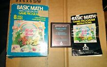 Basic math boxed manual for atari