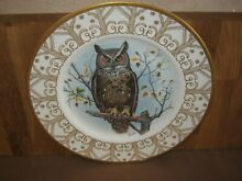 Large ltd edition owl plate great