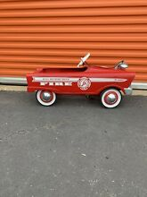 Original restored pedal car fire