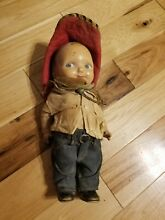 Original jeans from 1930s doll