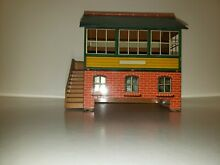 Meccano switchman s tower tin house
