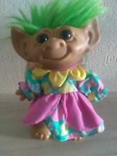 7 troll doll angel wings and green