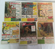 Lote de 42 1940s 1960s bicycle ads