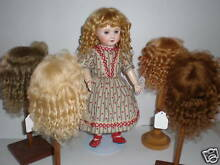 Wig mohair for doll t4 24cm france