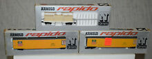 2 union pacific double door boxcars