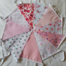 10ft 3 metres fabric bunting shabby