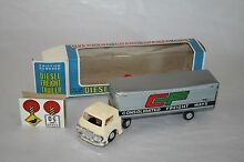 Playing toy diesel freight trailer