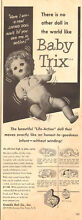 1950 toy ad baby trix living doll