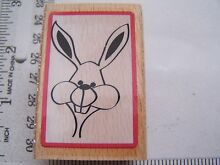 Wm rubber stamps framed bunny