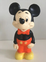 Mickey mouse rubber squeak toy walt