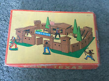 Fort texas old west wooden toy
