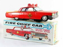 Japon fire chief car jouet ancien
