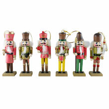 6 pcs wooden doll soldier puppet