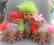 10 doll wishnik trolls bundle