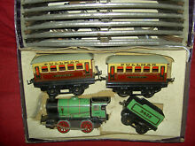 Wind up metal hornby train set