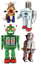 Mechanical robot tin toy