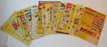 Collection of 19 ads 1940s red