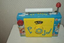 Old toy musical tv radio toys 1960