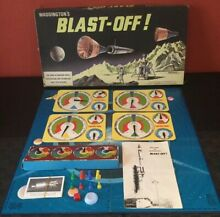 Blast off space board game by