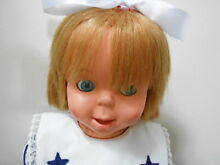 1965 doll talks eyes move mouth see