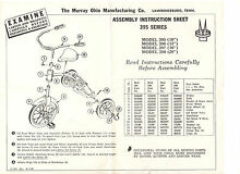 1968 tricycle assembly instruction