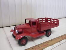 1930s stake truck pressed steel toy