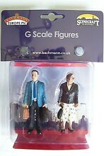 G scale two standing passengers